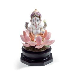 "Lladro ""Padmasana Ganesha"" Porcelain Figurine, , default"