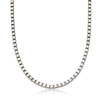 Italian 4.5mm Sterling Silver Box Chain Necklace