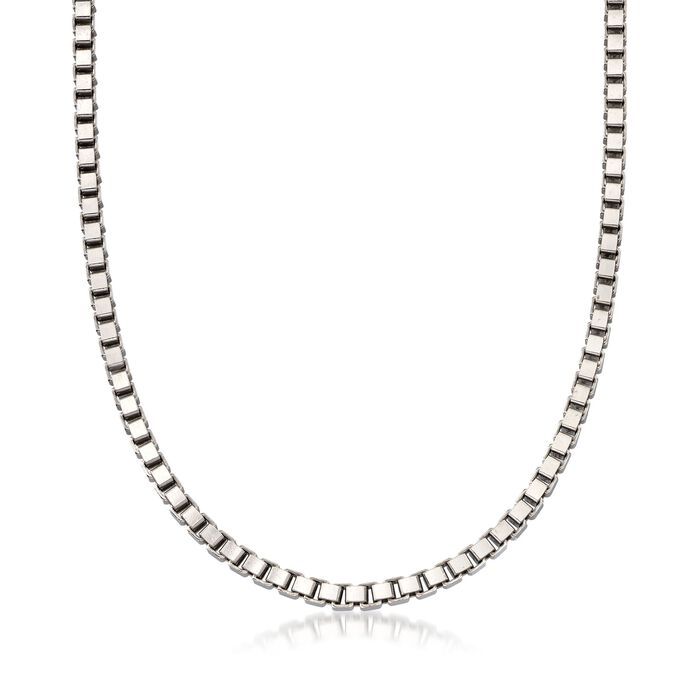 Italian 4.5mm Sterling Silver Box Chain Necklace, , default
