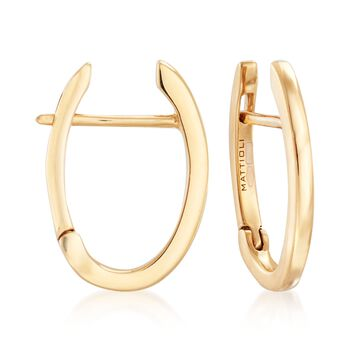 """Mattioli """"Puzzle"""" 18kt Yellow Gold Earrings With Three Interchangeable Drops: 18kt Gold and Multi-Stone. 7/8"""", , default"""