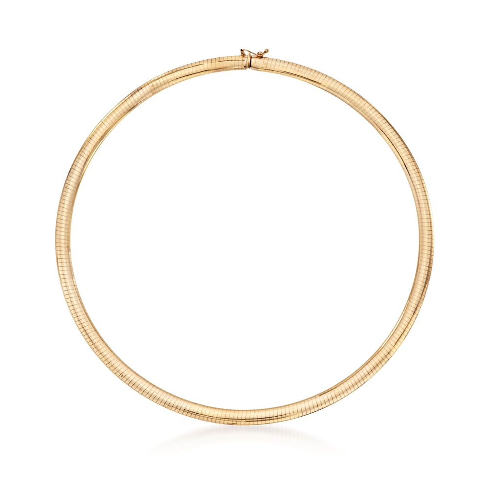 c6eaffc8e1be1 Italian 6mm 14kt Yellow Gold Omega Necklace | Ross-Simons
