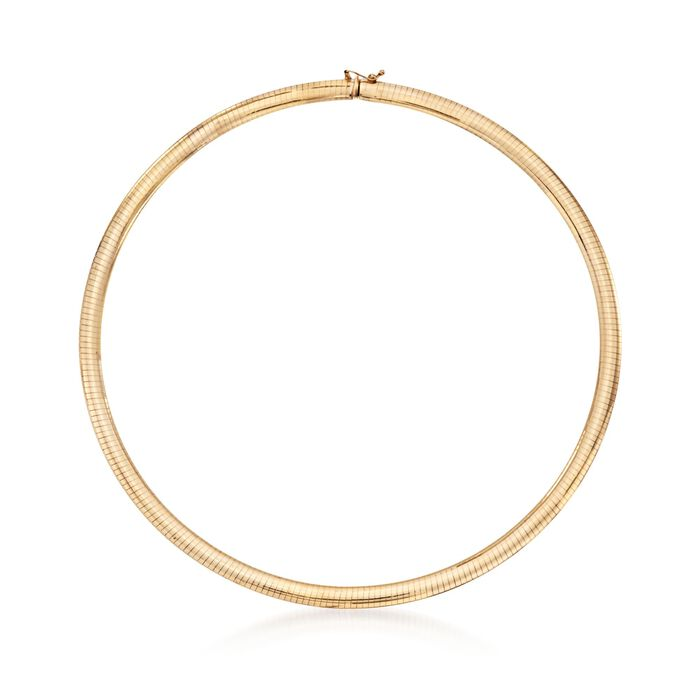 Italian 6mm 14kt Yellow Gold Omega Necklace, , default