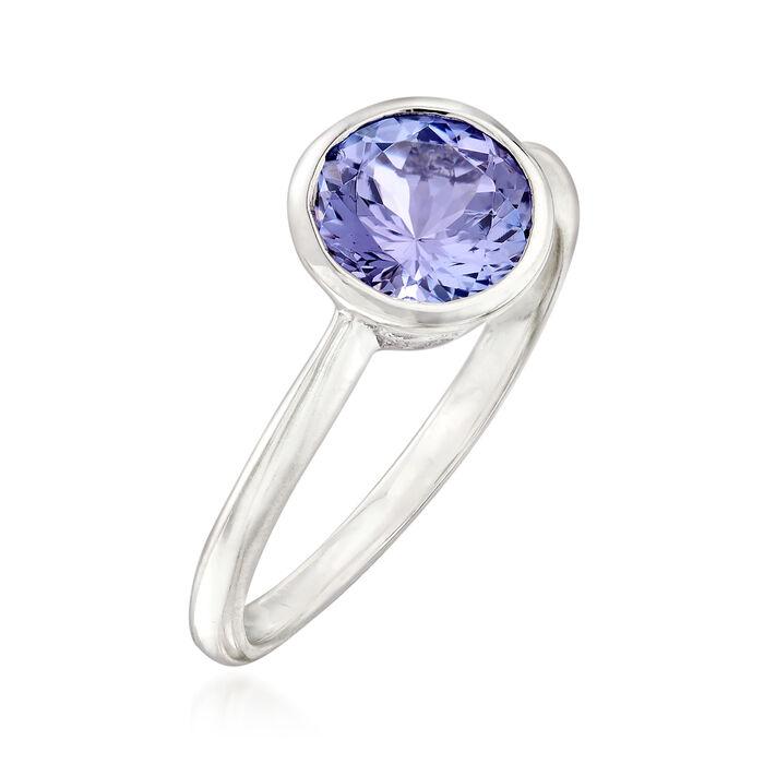 1.50 Carat Tanzanite Ring in Sterling Silver