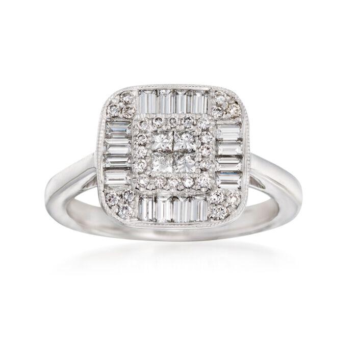 Gregg Ruth .96 ct. t.w. Diamond Ring in 18kt White Gold, , default