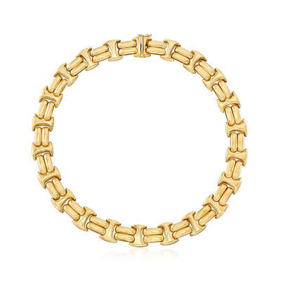 C. 1990 Vintage 14kt Yellow Gold Collar Necklace