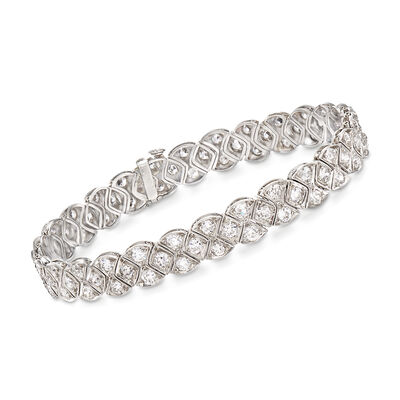 C. 1950 Vintage 5.75 ct. t.w. Diamond Bracelet in Platinum, , default