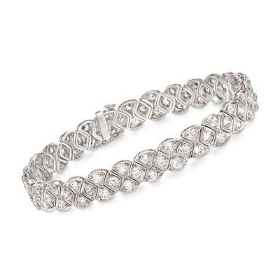 C. 1950 Vintage 5.75 ct. t.w. Diamond Bracelet in Platinum, , default
