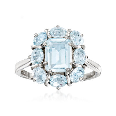 2.70 ct. t.w. Aquamarine Ring in Sterling Silver