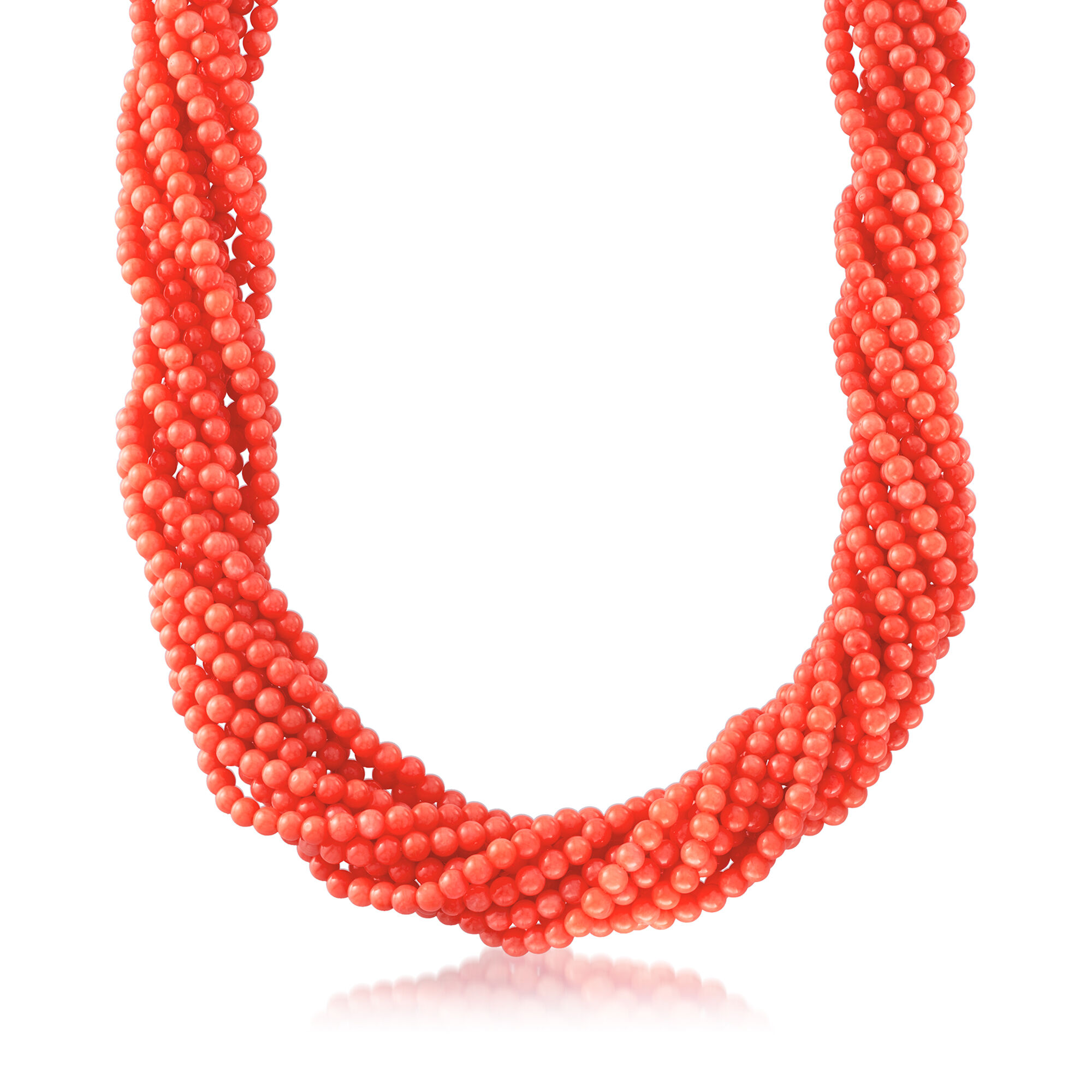 """Multi-Colored Gemstone Bead  Strand//String Necklace w Sterling Silver Clasp 20/"""""""
