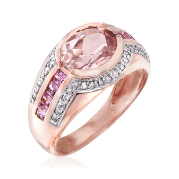 2.60 ct. t.w. Multi-Gemstone Ring in 14kt Rose Gold, , default