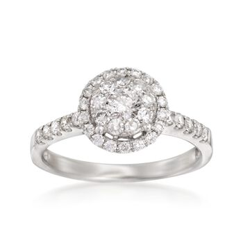 .75 ct. t.w. Diamond Illusion Halo Ring in 14kt White Gold, , default