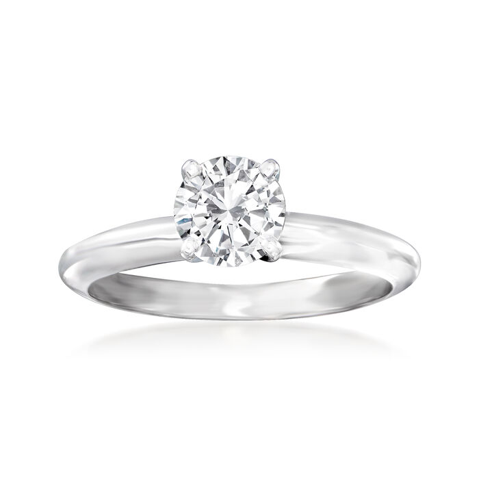 .73 Carat Certified Diamond Solitaire Ring in 14kt White Gold
