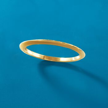 Italian Andiamo 14kt Yellow Gold Narrow Bangle Bracelet. 7.5""
