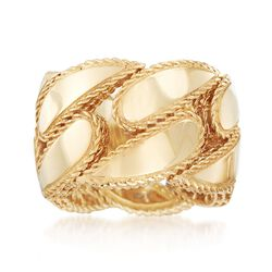 "Roberto Coin ""Gourmette"" 18kt Yellow Gold Ring, , default"