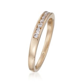 .25 ct. t.w. Channel-Set Diamond Ring in 14kt Yellow Gold
