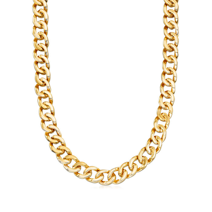 Italian 18kt Yellow Gold Round-Link Necklace