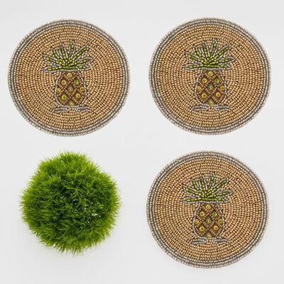 Joanna Buchanan Set of 4 Pineapple Coasters, , default