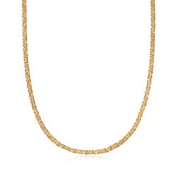4mm 14kt Yellow Gold Byzantine Necklace, , default