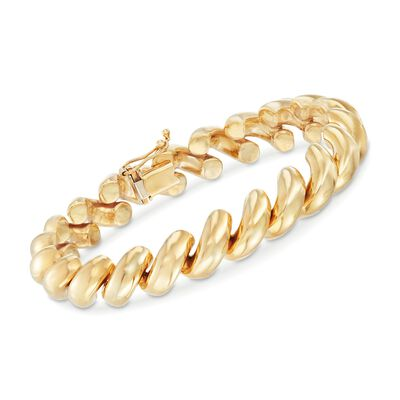 14kt Yellow Gold San Marco Bracelet