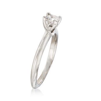 C. 1990 Vintage Tiffany Jewelry .30 Carat Diamond Solitaire Ring in Platinum. Size 5, , default