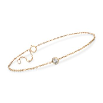 ".20 Carat Diamond Station Bracelet in 14kt Yellow Gold. 7.5"", , default"