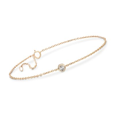 .20 Carat Diamond Station Bracelet in 14kt Yellow Gold, , default