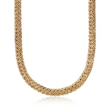 """14kt Gold Over Sterling Double Row Link Necklace. 18"""", , default"""