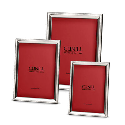 Cunill Italian Sterling Silver Beveled Beaded Picture Frame, , default