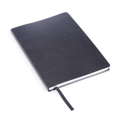 Royce Black Leather Three-Initial Slim Journal