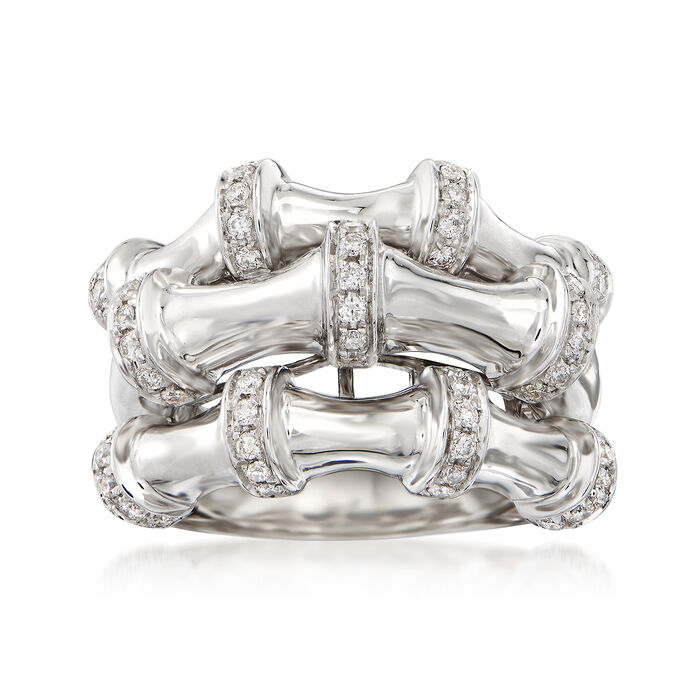 .63 ct. t.w. Diamond Three-Row Ring in 14kt White Gold