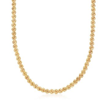 18kt Yellow Gold Rosette-Link Necklace, , default