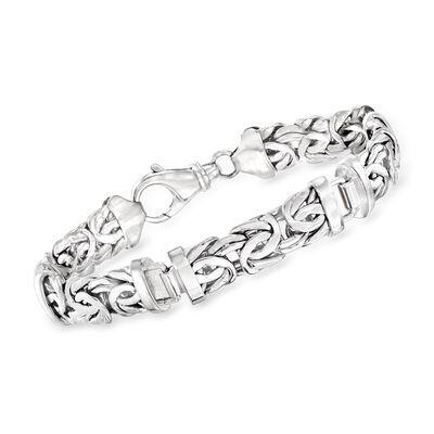 Sterling Silver Byzantine Bracelet, , default