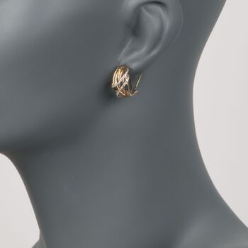 .19 ct. t.w. Diamond Sash Earrings in 14kt Yellow Gold, , default