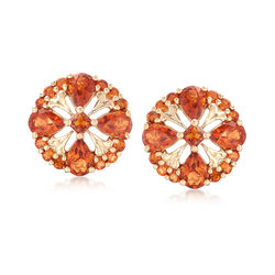 3.90 ct. t.w. Orange Citrine Earrings in 14kt Yellow Gold , , default