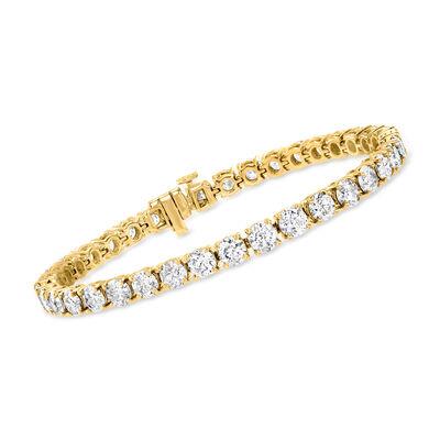 15.00 ct. t.w. Diamond Tennis Bracelet in 14kt Yellow Gold
