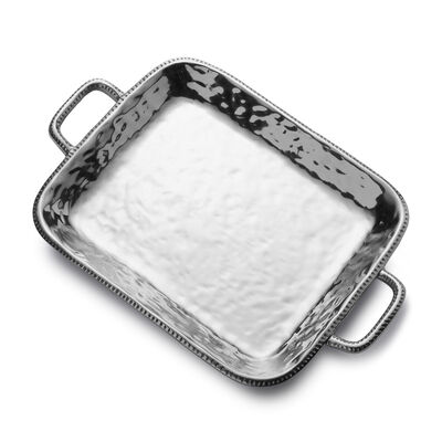 "Wilton Armetale ""River Rock"" Rectangular Tray with Handles, , default"