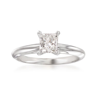 .90 Carat Certified Diamond Solitaire Ring in Platinum