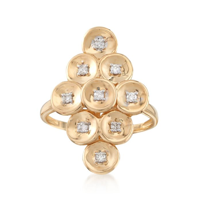 .16 ct. t.w. Diamond Multi-Disc Ring in 14kt Yellow Gold, , default