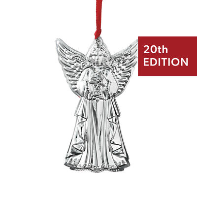 "Wallace 2020 Annual ""Grande Baroque"" Sterling Silver Angel Ornament - 20th Edition"
