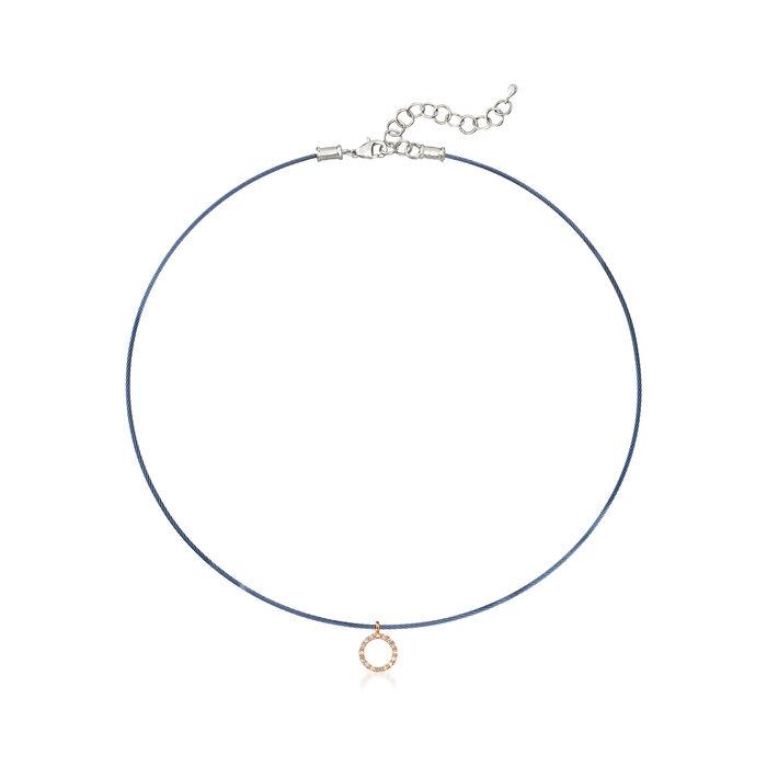 """ALOR Blue """"Classique"""" .14 ct. t.w.  Diamond Pendant Necklace with 18kt Gold"""