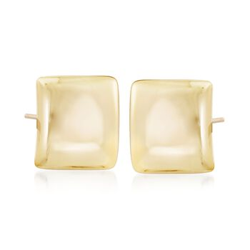 Italian 18kt Gold Over Sterling Silver Square Earrings, , default
