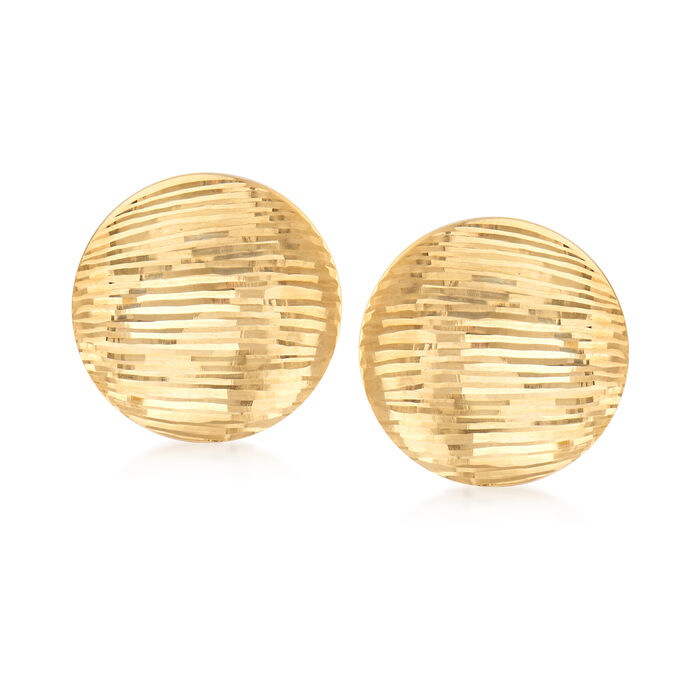 Italian Round Clip-On Earrings in 18kt Yellow Gold