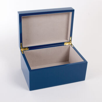 Blue Greek Key Lacquered Box
