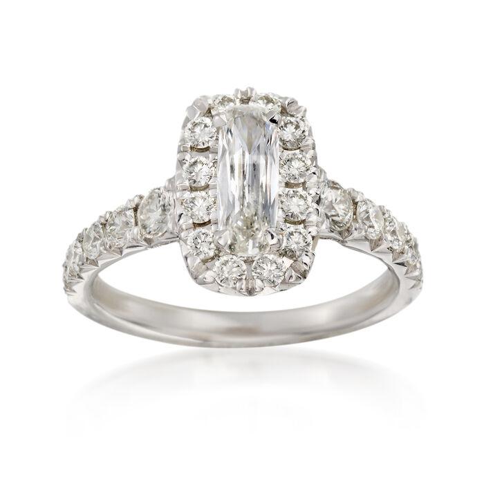 Henri Daussi 1.50 ct. t.w. Diamond Engagement Ring in 18kt White Gold, , default