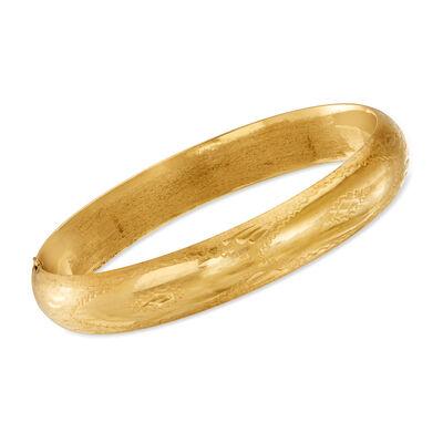 C. 1980 Vintage 14kt Yellow Gold Bangle Bracelet