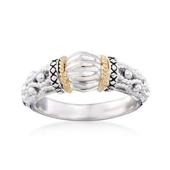 """Andrea Candela """"La Corona"""" Sterling Silver and 18kt Yellow Gold Ring, , default"""