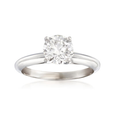 1.20 Carat Certified Diamond Solitaire Engagement Ring in 14kt White Gold, , default
