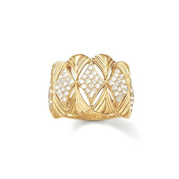 .87 ct. t.w. Pave Diamond Ring in 18kt Yellow Gold, , default