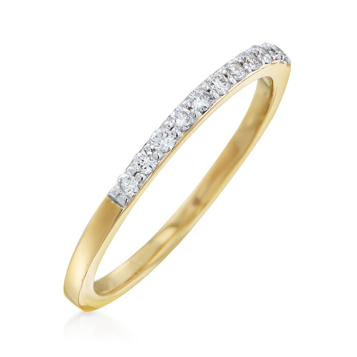 .16 ct. t.w. Diamond Ring in 14kt Yellow Gold