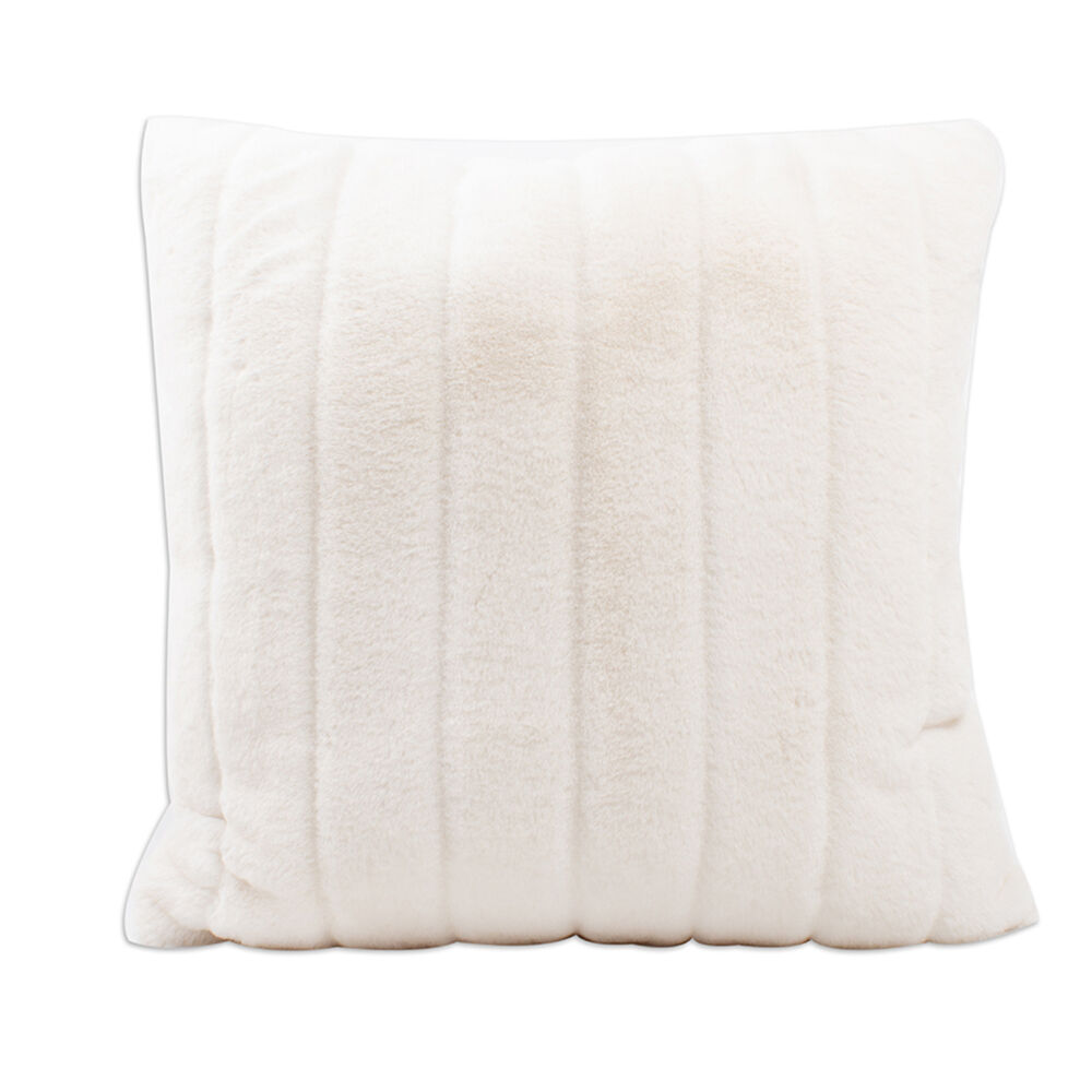 Remarkable Set Of 2 White Faux Fur Throw Pillows Caraccident5 Cool Chair Designs And Ideas Caraccident5Info